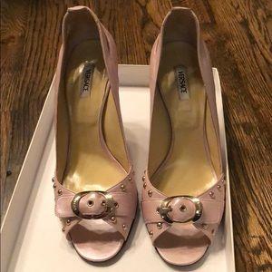 Versace Decolette Pink Pump Heel